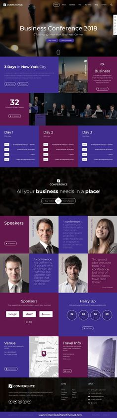 Xtra is clean and modern design responsive multipurpose #WordPress theme for stunning #events and #conference website with 30+ niche homepage layouts to download & live preview click on image or Visit #websitedesign