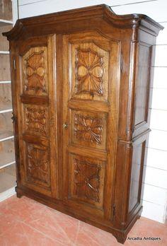 vintage antique furniture wardrobe walnut armoire. Late Century Walnut Size X Vintage Antique Furniture Wardrobe Armoire Y