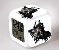 Superhero LED Alarm Clock - Batman VS Superman Action Figure Joker Won – Superhero Universe