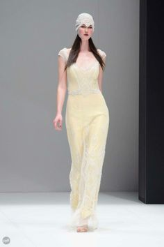 Gwendolynne's 2013 Collection from Melbourne Spring Fashion Week.. Love the yellow!
