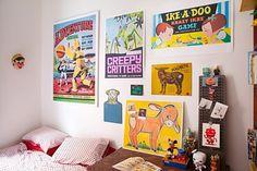 bright whimsical art wall