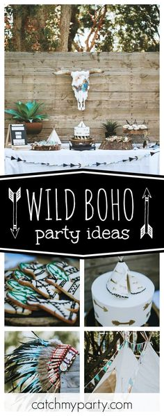 Don't miss this incredible Wild Boho 1nd birthday party! The cookies are awesome!! See more party ideas and share yours at CatchMyParty.com