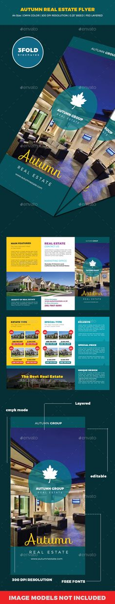 Autumn Real Estate Trifold Brochures