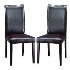 @Overstock - Include this modern set of dining chairs in your dining furniture setup to introduce an air of sophistication and elegance. The tough rubberwood construction ensures that the beauty of the set is complemented by sturdiness and durability.http://www.overstock.com/Home-Garden/Sweden-Dark-Brown-Modern-Dining-Chairs-Set-of-2/5583770/product.html?CID=214117 $144.99