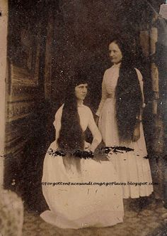 Forgotten Faces and Long Ago Places: Tintype Tuesday - Two Women Show Off Their Long Ha...