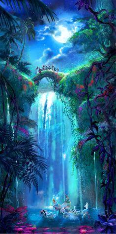 """The March of the Lost Boys"" by Guy Vasilovich Mermaids Peter Pan Neverland Disney background Peter Pan Disney, Disney Kunst, Mermaid Lagoon, Pinturas Disney, Disney Phone Wallpaper, Fantasy Art Landscapes, Fantasy Artwork, Disney Artwork, Disney Aesthetic"