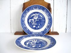 blue and white asian decor | Image of Set of 4 Blue and White Dinner Plates | BLUE AND WHITE ASIAN DECORE | Pinterest & blue and white asian decor | Image of Set of 4 Blue and White Dinner ...