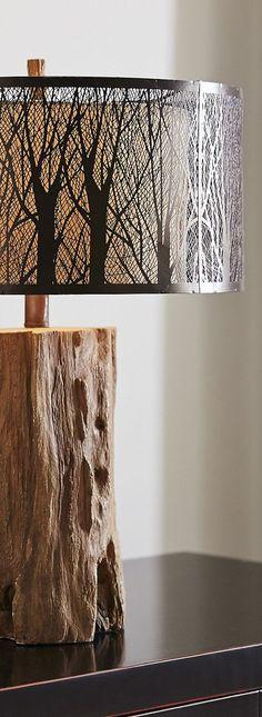 Rustic Birch Lamp