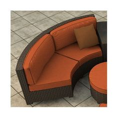 Forever Patio Hampton Loveseat with Cushions Finish: