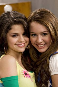 This is Miley Cyrus and Selena Gomez