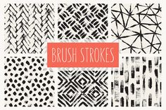 Brush Strokes. Seamless Patterns ▪ 3 by Curly_Pat on Creative Market