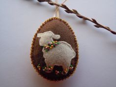 Felt Easter Egg Ornament / Decoration with by CheekyChickabees, $20.00