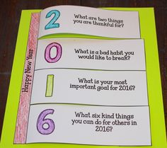 New year activity for 2016! Perfect for elementary students!