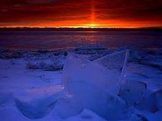 Sunrise Light on the Frozen Shores of Newport Bay, Lake Michigan, Wisconsin Imagenes Hd 4k, Star Trek, Newport Bay, Pictured Rocks National Lakeshore, Picture Rocks, Great Lakes Region, Winter Sunset, Best Sunset, Sunset Landscape