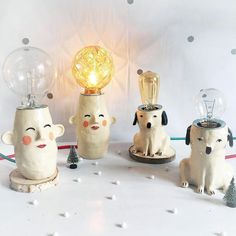 Lamps doesn't have to be serious! ~ Love these cuties from illustrator Wies van der Velde, Sowiesowies.