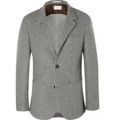 Brunello Cucinelli Grey Unstructured Cashmere Blazer | MR PORTER