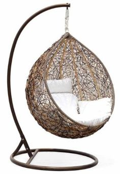 The Great Hammocks - Outdoor Wicker Swing Chair. $495. um, yes.