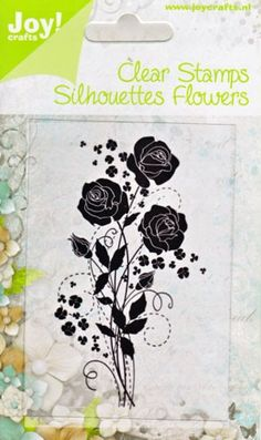 64100048 Joy! Crafts Clear Stamps Silhouettes Flowers