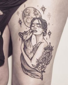 """hippie tattoo 294704369367701492 - """"Just like the moon, your greatest magic will come in times of darkness when you have no choice but to trust your own power."""" – spirit… Source by Cool Tattoos, Inspirational Tattoos, Tattoos, Hippie Tattoo, Tattoos For Women, Cute Tattoos, Sleeve Tattoos, Goddess Tattoo, Tattoo Designs"""