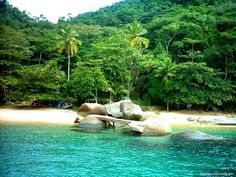 Parati, Brazil...Absolutely stunning, I could totally see myself setting up a little hut right there on the beach!