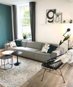 Elegante Wandfarbe Von KOLORAT. Duneklgrüner Akzent Im Wohnzimmer.  Www.kolorat.de #KOLORAT #Wandfarbe | Room | Pinterest | Green Rooms,  Interiors And Living ...