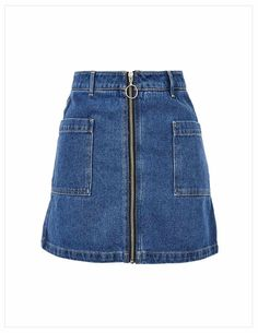 Glam Up Your Styles With Casual Denim Skirt Outfits A Line Denim Skirt, Blue Denim Skirt, A Line Skirts, Mini Skirts, Blue Skirts, Short Skirts, Denim Skirt Outfit Winter, Denim Skirt Outfits, Topshop Skirts