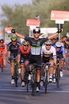 3rd Abu Dhabi Tour 2017 / Stage 1 Arrival / Mark CAVENDISH Celebration / Andre GREIPEL / Niccolo BONIFAZIO / Baynounah Educational Complex Madinat...