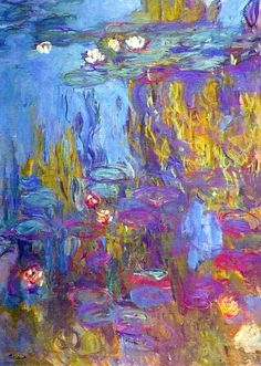 Water Lilies 1917 - Claude Monet <3 Had the privilege to see some Monets at the DMA. I'm a huge fan of the Impressionist movement, so I was thrilled.