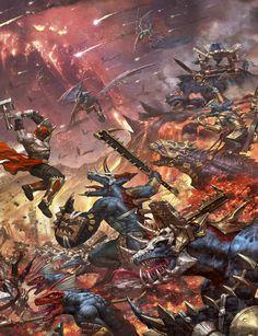 SERAPHONS VS BLOODBOUND #ageofsigmar #warhammer #art #fantasy #aos…