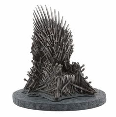 """This is a 7"""" replica of the Iron Thrown on Game of Thrones. Just for funnies, why not have an Iron Throne toilet for a guest room or secondary bathroom? Hmm? Of course, make it """"just a tad"""" more comfortable than it looks."""
