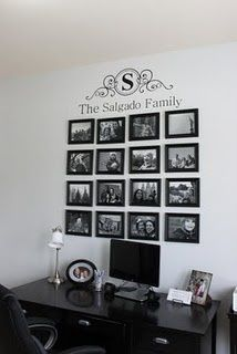 Family pictures - Would look great on the wall by the basement door facing the front door.