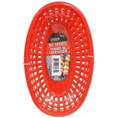 A fun way to serve up meals and snacks! Deli baskets are perfect for picnics, cookouts, barbecue, fish frys, french fries, chicken strips, and so much more! A must have for diners, restaurants, food t