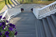 Pictures of composite decks and steps small composite for Fiberon vs trex