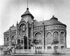 Old Red - First building of the University of Texas Medical School, Galveston, Texas, built 1891