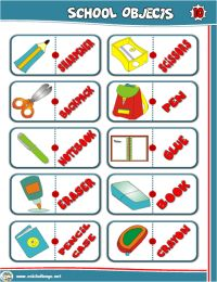 SCHOOL OBJECTS DOMINO GAME