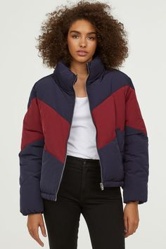 b56dadbc86aa7 Padded Jacket - Dark blue burgundy - Ladies