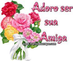 adoro sua amizade Facebook, Irene, Pasta, Good Morning Photos, Good Morning Messages, Beautiful Red Roses, Secret Gardens, Photo Galleries, Flowers