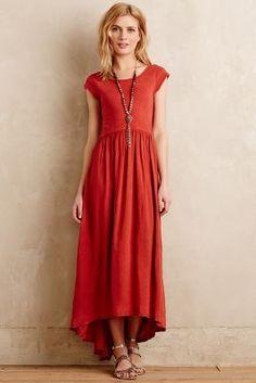 Anthro red dress