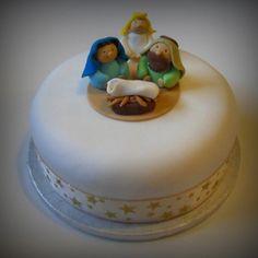 Nativity - Religious Christmas cake