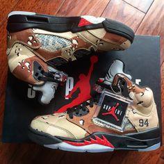 online retailer f46d5 281d2 Image of Supreme x Nike Jordan V Jordan V, Jordan Shoes, Air Jordan 5