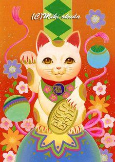 Big Pineapple, Okuda, Asian Tattoos, Buddha Art, Maneki Neko, Krishna Art, Blog Design, Blogger Themes, Cat Art