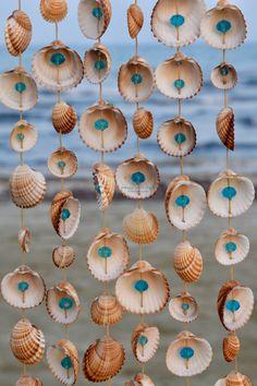 Read the full title Mediterranean Wind Chime * Custom-made Seashell Windchime * Shell Wall Decor * Shell Wall Hanging * Handmade Windchime * Seashell Boho Decor