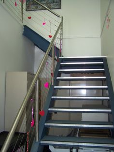 It's Valentine's Day today and our office staircase got into the swing of things with a few decorations!