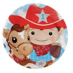 Cowboy 1st Birthday Party Packs - http://1stbirthdaypartytheme.com/cowboy-1st-birthday-party-packs.html