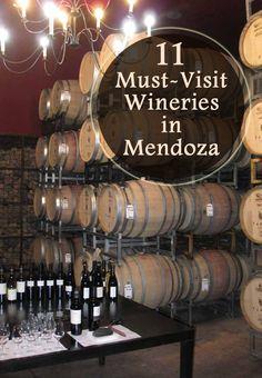 Estos son los barriles de vino en una bodega en Mendoza, Argentina. Estas bodegas hacen gran vino.