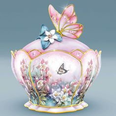 Porcelain Music Boxes | Porcelain Butterfly Music Box