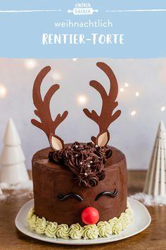 Christmas Themed Cake, Christmas Cakes, Easy Cake Decorating, Easy Cake Recipes, Themed Cakes, Christmas Baking, No Bake Cake, Cupcake Cakes, Bakery
