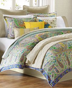 Duvet, pair with solid quilt.   Echo Bedding, Scarf Paisley Comforter Sets - Bedding Collections - Bed & Bath - Macy's