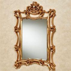 Scroll Elegance Gold Rectangular Wall Mirror