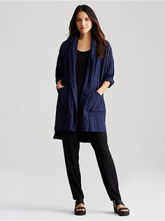 Rumpled Cotton Coat